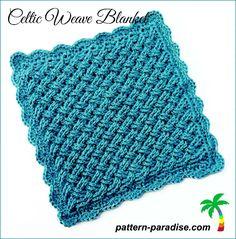Free Crochet Pattern for Celtic Weave Blanket by Pattern Paradise #crochet #freepatterns #blankeet #celtic #patternparadisecrochet