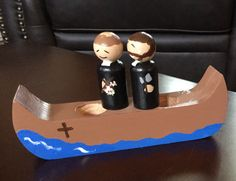 Studying the North American Martyrs? Paint a canoe, wood peg dolls and grab a map!