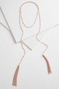 2f27fa50f85f Versona lariat tassel necklace  Versona Fall Clothes