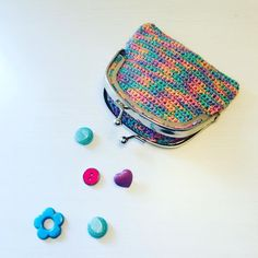 """Alex from Vienna auf Instagram: """"So proud of my first crocheted purse 👛💕👛 #crochet #crocheting #crochetlove #crochetaddict #crochetastherapy #craftastherapy…"""" Crochet Purses, My Bags, Vienna, Crocheting, Unicorn, Coin Purse, Tapestry, Wallet, Makeup"""