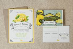 Really love these vintage label-inspired wedding invites.