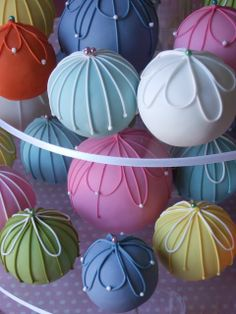 Pastel Cake Balls - Maki's Cakes  These are just beautiful