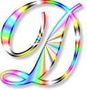 Alfabeto metálico arco iris. | Oh my Alfabetos!