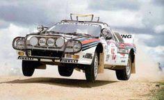 SAFARI RALLY 04/08 APRILE 1985 NAIROBI - VIC PRESTON JR - JOHN LYALL LANCIA RALLY 037 MARTINI RACING
