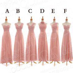 Mehrere Möglichkeiten für Ihre Mädchen. Einfach Bodenlang Brautjungfernkleider Partykleider mehrere Farbe zur Auswahl