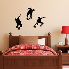 Skateboarder Wall Decal  Set of Three  by StephenEdwardGraphic, $20.00