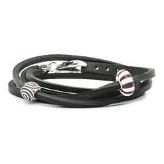 This rich leather bracelet is a nice natural  touch to an outfit.
