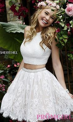Sherri Hill Two Piece Homecoming Dress at PromGirl.com