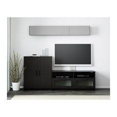 BRIMNES Agencement meuble télé - noir - IKEA