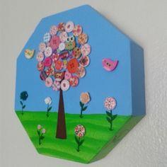 Quadrinho de Botões Jardim de Flores - Studio A&C