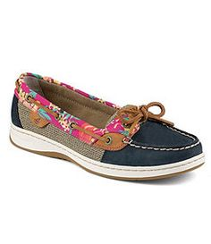 Sperry Top-Sider Angelfish Flamingo Floral Boat Shoes