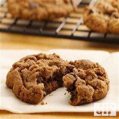 Deluxe Triple-Chocolate Cookies from Pillsbury Baking Triple Chocolate Chip Cookies, Chocolate Cookie Recipes, Semi Sweet Chocolate Chips, Cookie Desserts, Dessert Recipes, Cocoa Cookies, Choco Chips, Baking Cookies, Chocolate Drizzle
