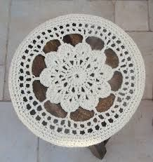 Image result for round bar stool crochet covers