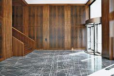 Office Building in Basle, Vittorio Magnago Lampugnani, Joos & Mathys Architekten Detail in materialen..