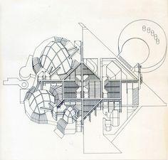 Baudizzone y Asociados. Proyecto Auditorio Ciudad de Buenos Aires. 1971