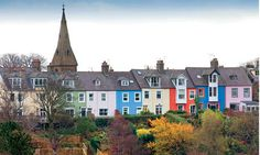 Alnmouth, Northumbria. Apparently Queen Victoria used to ask the engine driver to slow down at this point to look at the coloured cottages on her way up to Balmoral.