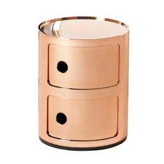 Compinibili bedside table in copper