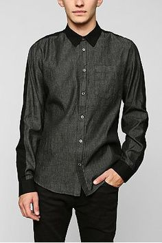 Charles & 1/2 Colorblock Button-Down Shirt