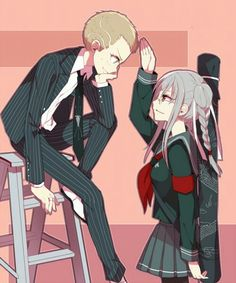 Peko and Fuyuhiko ^-^ these two, in my opinion, had the place of my favorite background story in sdr2