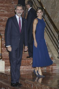 The drop waist number with a pleated skirt showcased the royal's very svelte figure...
