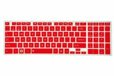 Silicone Laptop Keyboard Cover Skin Protector for Toshiba Satellite C850 C855 C855D C870 C875 C875D US Layout with Swan Service Card Case for Credit, Bank, ID Card (Red Semitransparent) - http://www.fivedollarmarket.com/silicone-laptop-keyboard-cover-skin-protector-for-toshiba-satellite-c850-c855-c855d-c870-c875-c875d-us-layout-with-swan-service-card-case-for-credit-bank-id-card-red-semitransparent/