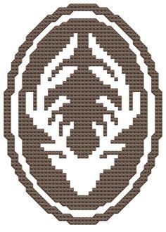 Antlers: a cross stitch pattern pdf $4