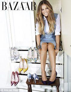 Sarah Jessica Parker shows off her SJP Collection shoe range in Harper's Bazaar Arabia