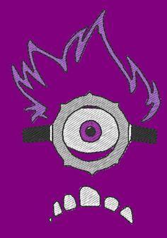 Evil Minion purple - embroidery design (big size)