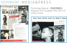 Press & PR - www.mom4mom.at - Madonna Interview - Blogger of the week May 2015