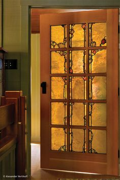 If you are going all-out on character, stained glass might be the way to go. This multipane door is a work of art in itself. Just be prepare...