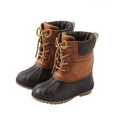 Gap Baby Toddler Boys NWT 7T/8T 3M Thinsulate Water Proof Brown Duck Snow Boots