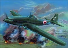 Ilyushin Il-10 «Blanco 54» Sturmovik norcoreano, Guerra de Corea, 1950. Zdenek Machacek. http://www.elgrancapitan.org/foro/viewtopic.php?f=68&t=18543&p=905041#p904868