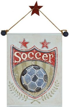 Soccer Hand Painted Canvas  Adorable for a sports themed room