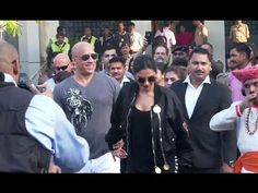 Deepika Padukone & Vin Diesel arrives in India to promote XXX movie. Deepika Padukone Latest, Vin Diesel, Gossip, Interview, Photoshoot, India, Youtube, Movies, Pictures
