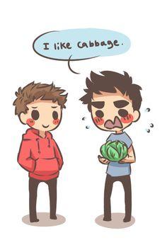 "chibi!sterek ""I like cabbage"""