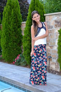 Wild One Forever: Floral Maxi Skirt from Brickyard Buffalo