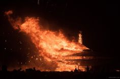 An incredible photo from Burning Man captured by ! See more at our June showcase!