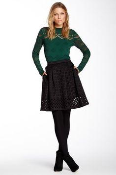 Yellow Label Helana Laser Cut Skirt