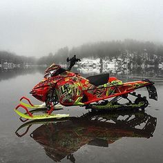 Such a cool pic Triumph Motorcycles, Cars And Motorcycles, Motocross, Snow Vehicles, Ducati, Polaris Snowmobile, Mopar, Snow Machine, Atv Four Wheelers