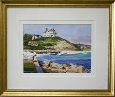 "WATCH HILL by Frederick Kubitz, Watercolor  Image size:  11"" x 15""  Framed size:  20"" x 24""  $950"