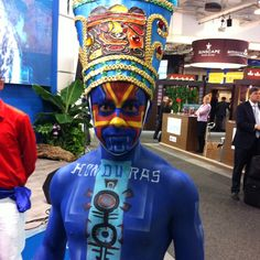 Hey, where is the rest of my Blue Man Group? Representing Honduras at ITB Berlin.