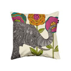 Aaron the elephant pillow by Valentina Ramos