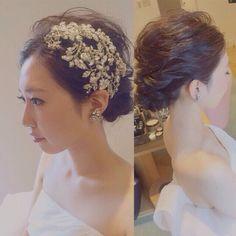 hair&make @ yuki. Headpiece Wedding, Wedding Veil, Bridal Hair, Wedding Dresses, Dress Hairstyles, Wedding Hairstyles, Wedding Hair Accessories, Marie, Short Hair Styles