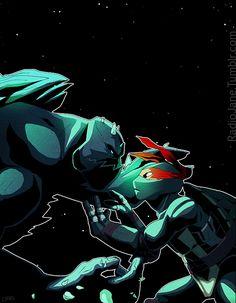 What a great episode of TMNT Slash and Destroy was, and a great origin story to top it off. Slash and Destroy Ninja Turtles Art, Teenage Mutant Ninja Turtles, Dc Comics Series, Leonardo Tmnt, Renaissance Artists, Tmnt 2012, Cartoon Shows, Anime, Hero