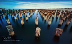 Standing Tall by All4Nature  water 500px seascape landscapes long exposure still jetty Princess Pier Australia Victoria Melbourne