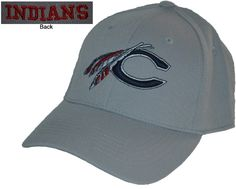 Catawba- Top of the World One-Fit Hat. Light gray hat with Catawba logo on front in navy trimmed in white. Catawba College, Catawba Indians, College Hats, Sports Apparel, Salisbury, Athletics, First World, Sport Outfits, North Carolina