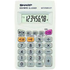 Sharp Elsi Mate EL-233ER zsebszámológép 8 számjegyes - Számológépek