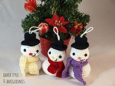 Ravelry: Snowman/ Muñeco de nieve - adorno Navidad pattern by Marta Ruso (Amarilis108)
