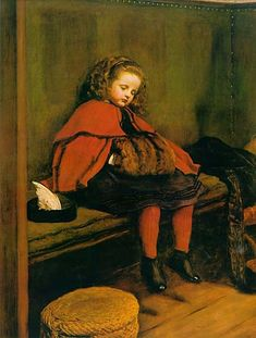John Everett Millais   My Second Sermon is a portrait of Millais' daughter Effie, born in 1858.