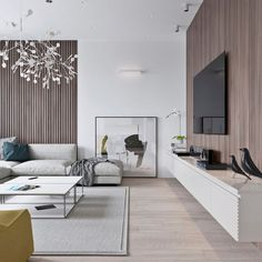 Minimalist living room is completely important for your home. Because in the living room every the events will starts in your pretty home. locatethe elegance and crisp straight Best Minimalist Living Room Design. Living Room Tv, Living Room Lighting, Living Room Interior, Living Area, Contemporary Interior Design, Home Interior Design, Interior Modern, Simple Interior, Contemporary Chandelier